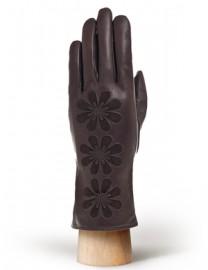 Перчатки женские 100% шерсть IS7663 brown (Eleganzza)