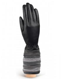 Перчатки женские 100% шерсть IS787 black/grey (Eleganzza)