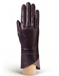 Перчатки женские 100% шерсть IS805 amethyst/d.pink (Eleganzza)