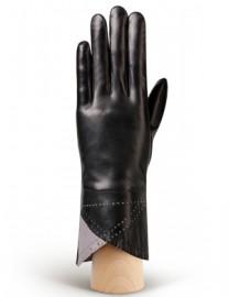 Перчатки женские 100% шерсть IS805 black/l.grey (Eleganzza)