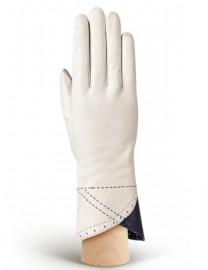 Перчатки женские 100% шерсть IS805 ivory/violetblue (Eleganzza)