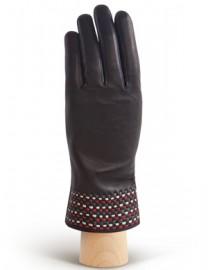 Перчатки женские 100% шерсть IS819 black/classic (Eleganzza)