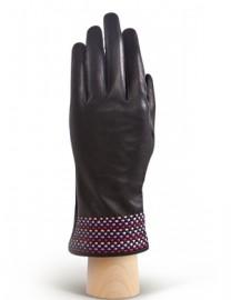 Перчатки женские 100% шерсть IS819 black/rose (Eleganzza)