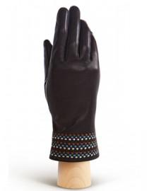 Перчатки женские 100% шерсть IS819 d.brown/it (Eleganzza)