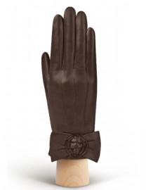 Перчатки женские 100% шерсть IS897 d.brown (Eleganzza)