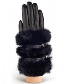 Перчатки женские 100% шерсть IS929 black (Eleganzza)