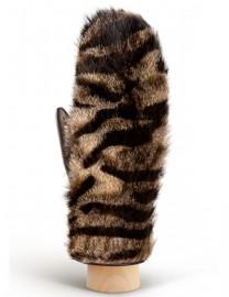 Перчатки женские 100% шерсть IS991 brown tiger (Eleganzza)