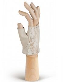 Перчатки женские без пальцев 01001 beige (Eleganzza)