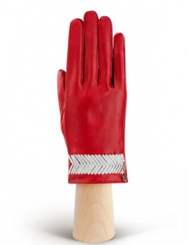 Перчатки женские без пальцев HP290 tomat/white (Eleganzza)