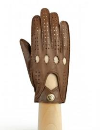Перчатки женские без пальцев HS011W camel (Eleganzza)