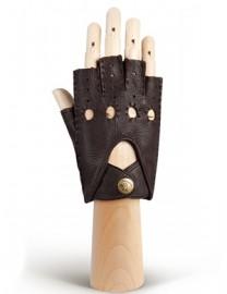 Перчатки женские без пальцев HS102W d.brown (Eleganzza)