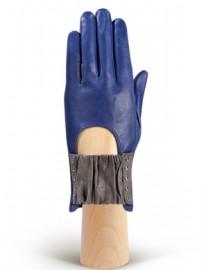 Перчатки женские без пальцев IS1008 violetblue/grey (Eleganzza)