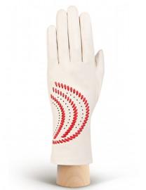 Перчатки женские без пальцев IS391 beige/tomat (Eleganzza)