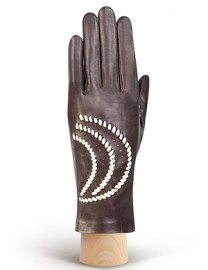 Перчатки женские без пальцев IS391 brown/beige (Eleganzza)