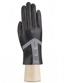 Перчатки женские без пальцев IS840 black/l.grey (Eleganzza)