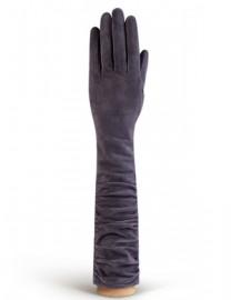 Перчатки женские длинные (шерсть и кашемир) IS02010 charcoal (Eleganzza)