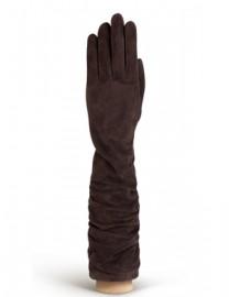 Перчатки женские длинные (шерсть и кашемир) IS02010 d.brown (Eleganzza)
