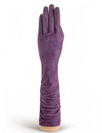 Перчатки женские длинные (шерсть и кашемир) IS02010 d.violet (Eleganzza)
