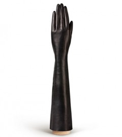 Перчатки женские длинные подкладка из шелка IS0585 black (Eleganzza)