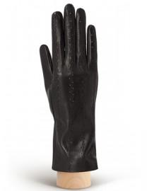 Перчатки женские кожаные без пальцев HP18 black (Eleganzza)