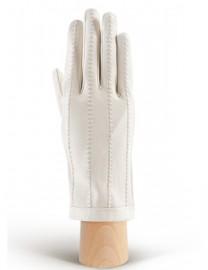 Перчатки женские кожаные с мехом без пальцев IS025w ivory (Eleganzza)