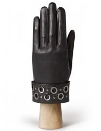 Перчатки женские кожаные с мехом без пальцев IS0316 black (Eleganzza)
