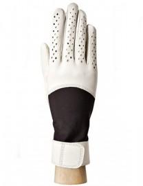 Перчатки женские кожаные утепленные без пальцев IS018 beige (Eleganzza)