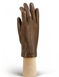 Перчатки женские кожаные утепленные без пальцев IS025w camel (Eleganzza)