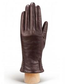 Перчатки женские натуральный мех (ягн) IS0424 brown (Eleganzza)