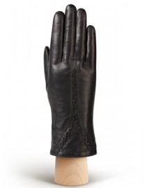 Перчатки женские натуральный мех (ягн) IS689 black (Eleganzza)