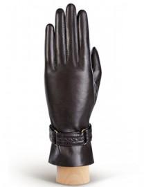 Перчатки женские (шерсть и кашемир) F-HP0053 d.brown (Eleganzza)