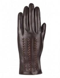 Перчатки женские (шерсть и кашемир) F-IS0054 d.brown (Eleganzza)