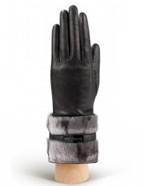 Перчатки женские (шерсть и кашемир) IS00100 black/grey (Eleganzza)
