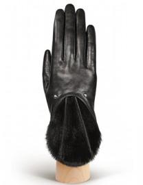 Перчатки женские (шерсть и кашемир) IS00200 black (Eleganzza)