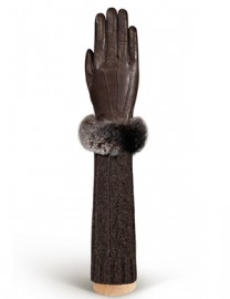 Перчатки женские (шерсть и кашемир) IS01220 concer/brown (Eleganzza)