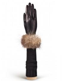 Перчатки женские (шерсть и кашемир) IS01221 black (Eleganzza)