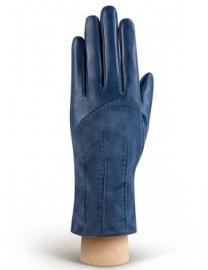 Перчатки женские (шерсть и кашемир) IS01300 d.blue (Eleganzza)