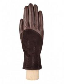 Перчатки женские (шерсть и кашемир) IS01300 d.brown (Eleganzza)