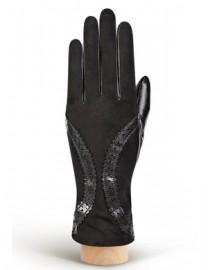 Перчатки женские (шерсть и кашемир) IS01305 black (Eleganzza)