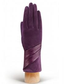 Перчатки женские (шерсть и кашемир) IS01310 d.violet (Eleganzza)