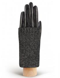 Перчатки женские (шерсть и кашемир) IS01330 black/grey (Eleganzza)