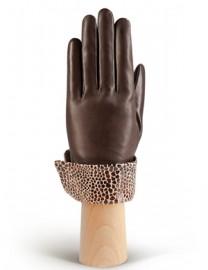 Перчатки женские (шерсть и кашемир) IS02017 d.brown (Eleganzza)