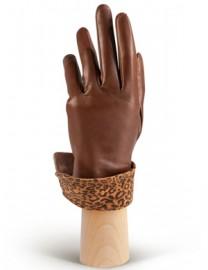 Перчатки женские (шерсть и кашемир) IS02017 l.brown (Eleganzza)