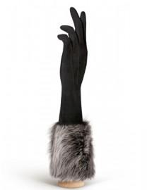 Перчатки женские (шерсть и кашемир) IS02028-sd black (Eleganzza)