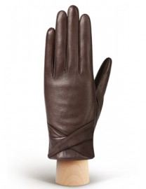 Перчатки женские (шерсть и кашемир) IS02044 d.brown (Eleganzza)