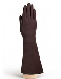 Перчатки женские (шерсть и кашемир) IS02054 d.brown (Eleganzza)