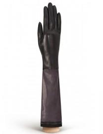 Перчатки женские (шерсть и кашемир) IS02055 d.brown/d.green (Eleganzza)