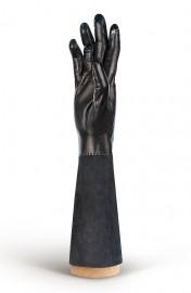 Перчатки женские (шерсть и кашемир) IS02059 black/d.grey (Eleganzza)