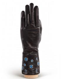 Перчатки женские (шерсть и кашемир) IS0205 black/blue (Eleganzza)