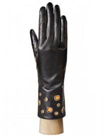 Перчатки женские (шерсть и кашемир) IS0205 black/orange (Eleganzza)